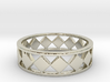 Diamond Barred Ring Band 3d printed
