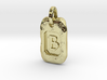 Old Gold Nugget Pendant B 3d printed