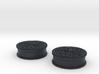 Oreo Cookie earring plugs 3d printed