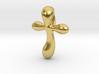 Raindrop Cross Pendant - Christian Jewelry 3d printed