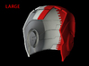 Iron Man Helmet - Head Left Side (Large) 2 of 4 3d printed CG Render (Head Left with Head Right)