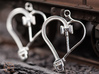 Crosshead Heart Earrings  3d printed