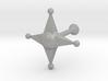 Star Cufflink 3d printed