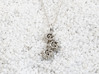 Barnacle Pendant - Nature Jewelry 3d printed Barnacle pendant in polished silver