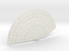 1/1400 USS Ambassador proposal Left Lower Saucer 3d printed