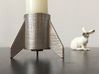 CRS-1, a candle holder 3d printed Real 3d Print candle and not to scale rabbit