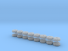 Main Sprocket - 1-144 scale - Set of 16 - Upright  3d printed