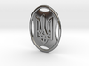 Pendant - Coat of Arms of Ukraine - in Oval - #P8 3d printed