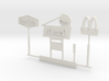 HO Scale Signs 3d printed This is a render not a picture