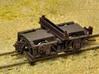 Three Pair Nn3 Logging Disconnect Trucks (6 trucks 3d printed Finished model (wheel sets, brake wheel, coupler and brass screw not included.)
