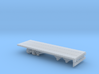 1-87 Scale Transit 22ft Flatbed Trailer 3d printed