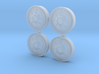1971 Plymouth Hubcaps 3d printed