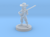Gnome Gunslinger with Long Rifle 3d printed