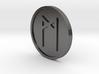 Mannaz Coin (Elder Futhark) 3d printed