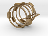 The Four Kings puzzle ring 3d printed