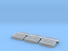 Set of 6 - Porsche Deck Lid Duck Tails for HotWhee 3d printed