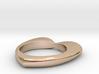 Heart ring (custom text) - 18 EUR - 8 US 3d printed