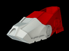 Iron Man Boot (Heel NO sole) Part 1 of 4 3d printed CG Render (what's highlighted in Red will be printed)