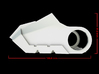 Iron Man Boot (Toe with sole) Part 2 of 4 3d printed CG Render (Side Measurements)