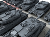 1/600 German Leopard 2A4 MBT x10 3d printed 1/600 German Leopard 2A4 MBT x10