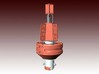 Mobilis JET 2000 Navigation buoy - 1:50 - red 3d printed