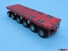 HO/1:87 spmt 6 axle with ppu 3d printed painted & assembled (ppu included)