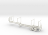 Timber Trailer Dropped Center With Wheels Fixed 1- 3d printed