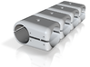 T-Stücke Verstärkt Mit Gewinden M4 4fach Mit Zapfe 3d printed