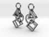 Bauhaus Earrings 3d printed