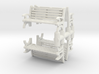 Bench (4 pieces) 1/76 3d printed