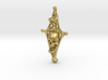 Diamond Bone Pendant 3d printed
