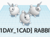 [1DAY_1CAD] RABBIT 3d printed