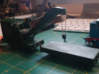 Breakdown Crane & Flatbed OO / HO (Right) 3d printed Model w/ details on right (this model)