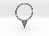 Single Spike Seam Ring 3d printed