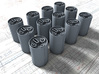 1/48 Royal Navy MKVII Depth Charges x12 3d printed 1/48 Royal Navy MKVII Depth Charges x12