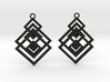 Geometrical earrings no.17 3d printed