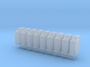 1/35 MILITARY NATO 20lt FUEL JERRY CAN 8 PACK 3d printed