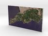 Amalfi Coast, Campania, Italy, 1:150000 3d printed