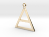 Pure Gold or Silver Triangle, Special Gift  3d printed