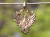 Phoenix Bird Pendant 3d printed Photo of Phoenix Bird Pendant in Polished Bronze