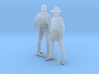 HO Scale Old West Figures 3d printed This is a render not a picture