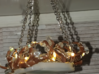 1:12 Antler Chandelier 1 3d printed Lavishouse Miniatures fit a mini-light battery pack into the center