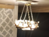 1:12 Antler Chandelier 1 3d printed By Lavishouse Miniatures - light on!