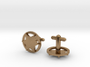 Sheriff's Star Cufflink (Style 3) Silver,Brass,Gol 3d printed