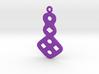 Circles & Squares Earrings 3d printed