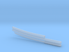 Katana - 1:12 scale - Curved blade - Plain 3d printed
