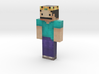 king   Minecraft toy 3d printed