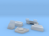 Chest pieces for Zeta Toys Silver Arrow 3d printed