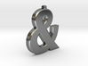Ampersand Pendant 3d printed