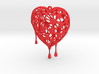 Bleeding Heart Earring (Large001) 3d printed
